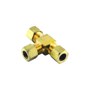 1/4in BSP Brass T-Union Connector**