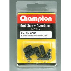 Champion 16Pc Imperial UNC Grub Set Screw Assortment