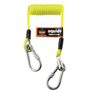 ERGODYNE COILED CABLE DUAL S/S CARABINEER 0.9KG**