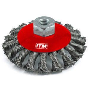 ITM Twist Knot Bevel Brush Stainless Steel 100mm