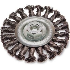 ITM Twist Knot Wheel Brush Stainless Steel 125mm